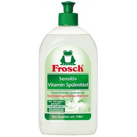 Indų plovimo priemonė  sensitiv vitamin